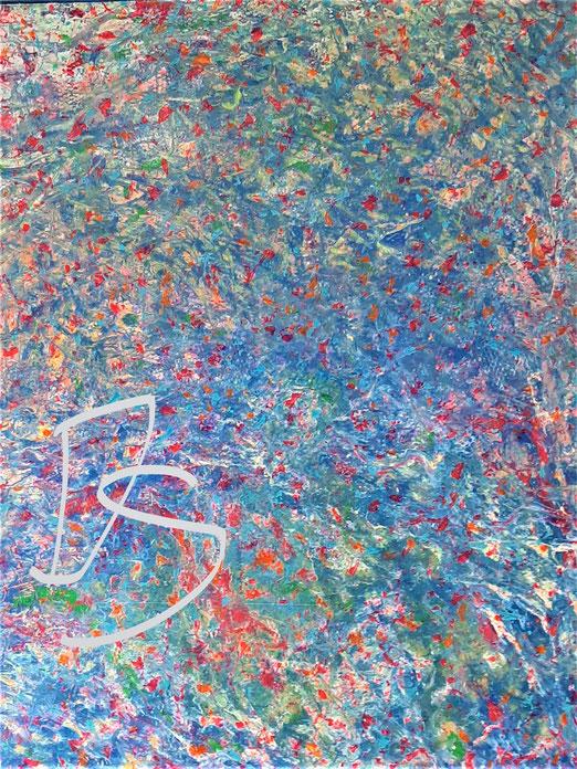 Lib 06/20 Peinture acrylique sur Toile 80 x 100 cm