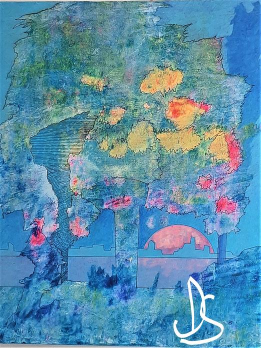 Nat 20/1 Peinture Acrylique sur toile 50 x 61 cm