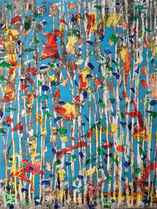 Lib  15/20 Peinture acrylique sur toile 48 x 58 cm