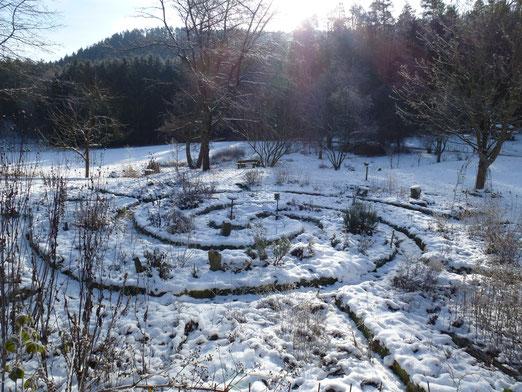 Die Kräuterspirale im Wintertraum- für drei Tage