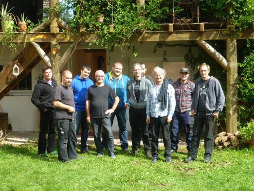 Team Wochenende der Firma Hydro Watt aus Karlsruhe auf dem Reinighof