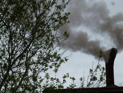 Der Holzbackofen brennt wieder...