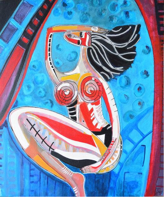 Peinture acrylique femme