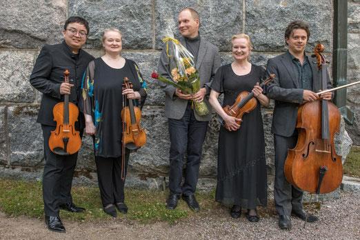 Diyang Mei, Sonja Korkeala, Jyrki Linjama, Katinka Korkeala, Samuli Peltonen (Foto P.Bagge)
