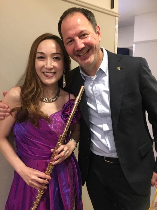 フルート奏者 ユルゲン・フランツ氏とKOKORO