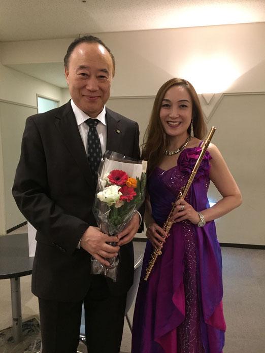 フルート奏者 工藤重典氏とKOKORO