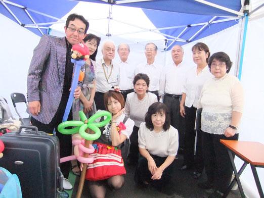 マジックのEIJIさん、Miyukiさん、吉田さん、アリスさん、バッカスの皆さん達