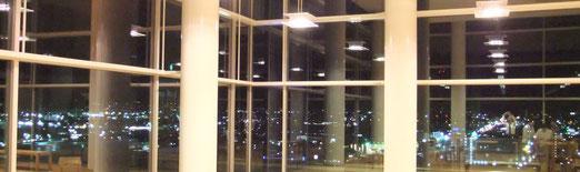 コラッセふくしまの展望室からの夜景~なかなかのデートコース?!