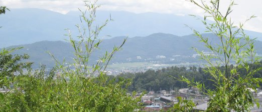 常楽寺から望む浅間山