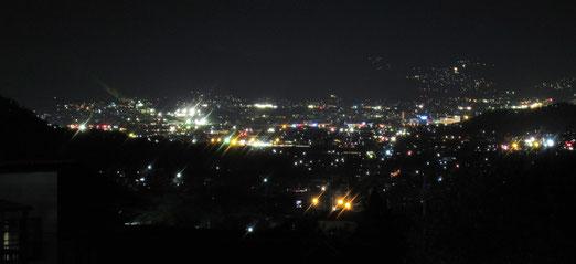 上田市街の夜景~北向観音から