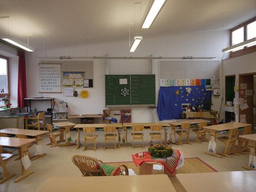 Eines der sechs Klassenzimmer