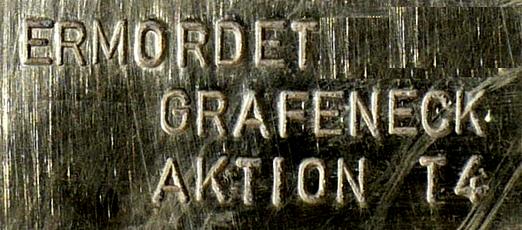 Ermordet in Grafeneck, Detail eines Stolpersteins, Foto: User:Enslin, Lizenz:  Creative Commons Attribution-Share Alike 3.0 Unported