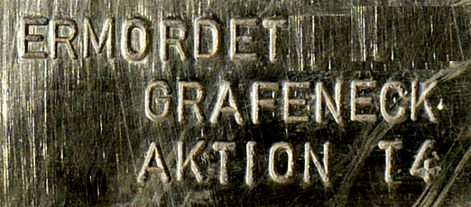 Ermordet in Grafeneck, Detail eines Stolpersteins, Foto: User:Enslin, Lizenz:  Creative Commons Attribution-Share Alike 3.0 Unported