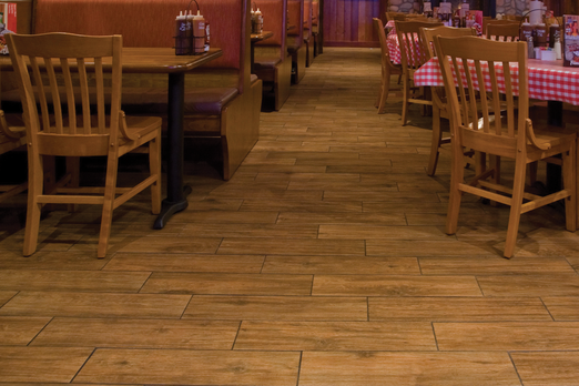 Porcelain floor tiles that look like wood