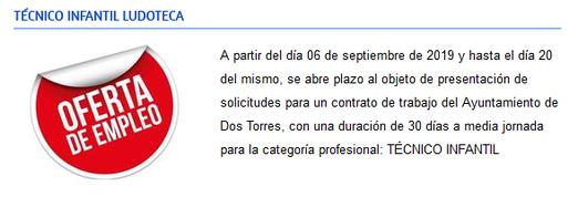 Más información Área Juventud Ayuntamiento de Dos Torres