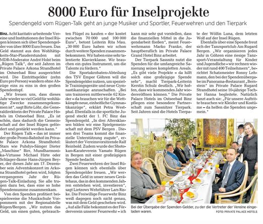 300,00 Euro für die Göhrener Akrobaten