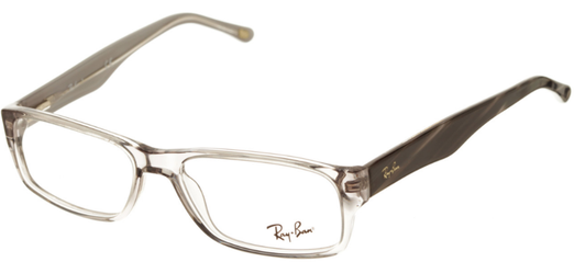Occhiali da vista Ray-Ban uomo 0RX5203. Colore: 2467 grigio trasparente. Forma: rettangolare. Prezzo € 114,00. Spedizione gratis. Materiale: plastica.