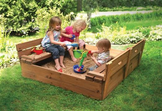 песочница деревянная детская модель 1