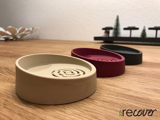 Recover2go Deckel in den Farben Weinrot, Grau und Macco