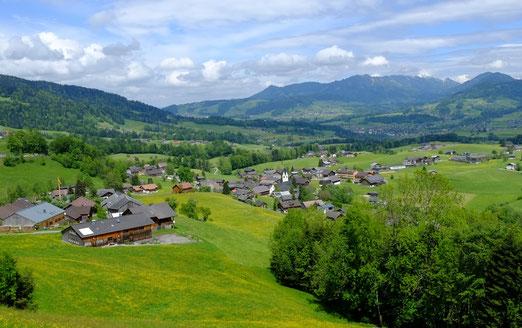 Blick auf Schwarzenberg im Bregenzer Wald