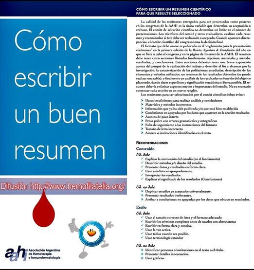 Gentileza de la Asociación Argentina de Hemoterapia e Inmunohematología. Muchas Gracias.