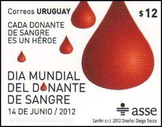 Novedad Correo de Uruguay, emisión 14/06/2012 DMDS.