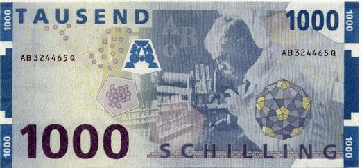 Billete (dorso) con la imagen de Karl Landsteiner