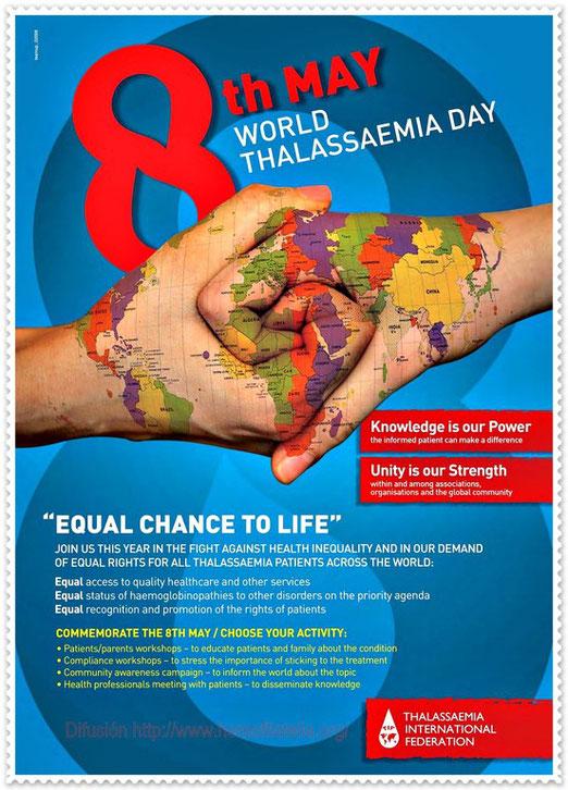 8 de Mayo: Día Mundial de la Talasemia.