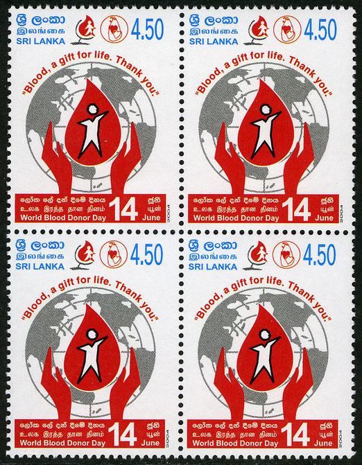 Dia Mundial del Donante de Sangre, Año de emisión 2004, Colección Hemofilatelia.