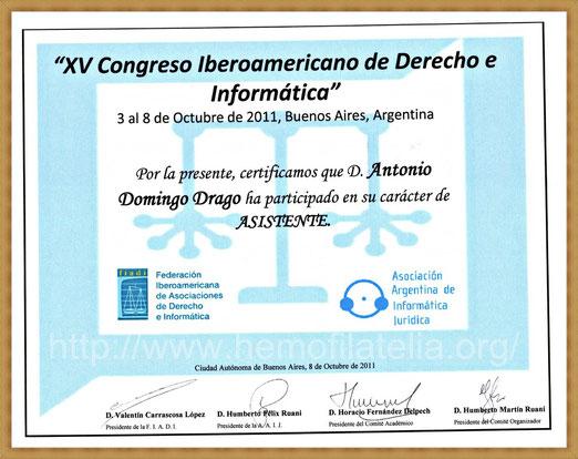 Se agradece la Invitación del Dr. Horacio Fernández Delpech, para adaptar las Normas Legales del Derecho Internacional Informático a éste Portal-Web, (Excelente evento).