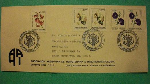 Primer Matasello emitido por el Correo Oficial de la República Argentina.
