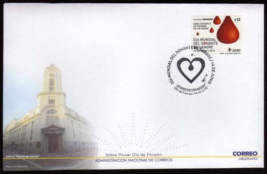 Día Mundial del Donante de Sangre, Uruguay 14 de Junio de 2012 FDC
