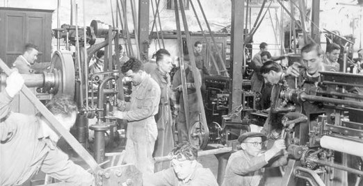 Fábrica de Fósforos de la Compañia General Sud Americana S. A. década de 1930.
