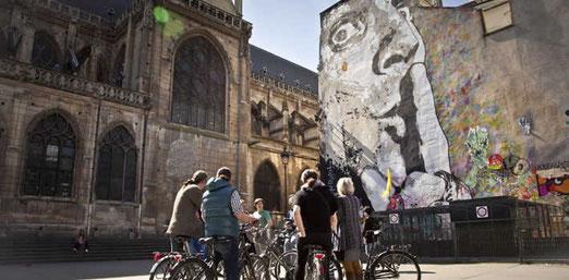 visite centre pompidou à vélo