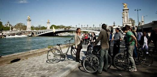 balade à vélo le long de la seine