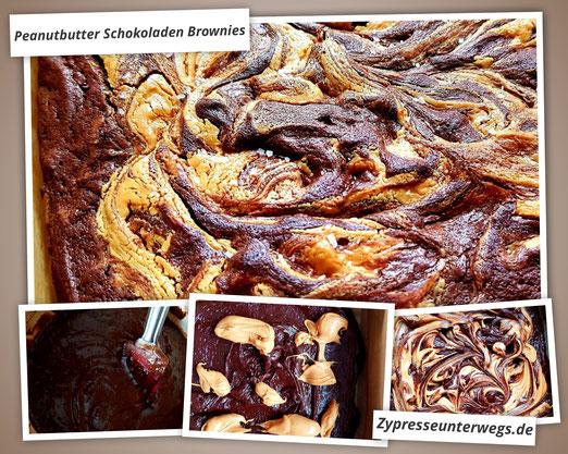 Peanutbutter Schokoladen Brownies