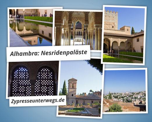 Die Alhambra - die Nesridenpaläste