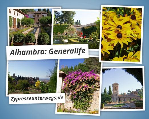 Hof des Wasserkanals im Generalife der Alhambra