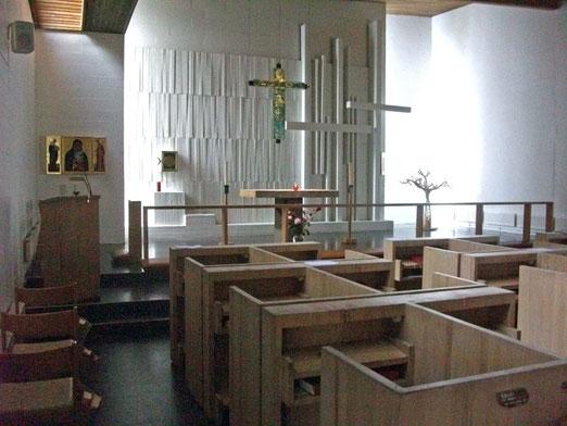 Die St. Davids Kapelle in Berget.