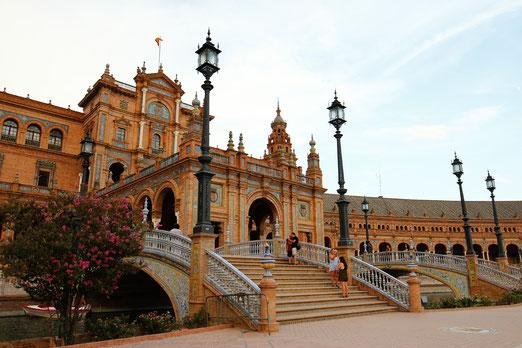 Plaza de Espana, Seville, Andalusia, sights in Andalusia