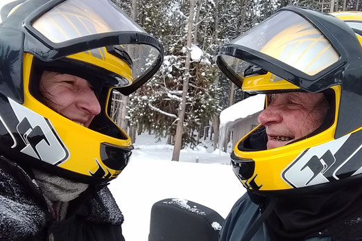 Snowmobiling in Yellowstone, National Parks of the USA in the winter