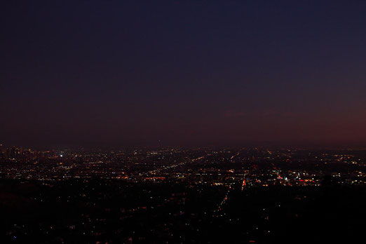 Los Angeles at night from the Hollywood Hills
