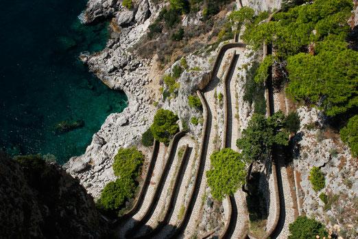 Via Krupp, Capri, verrückte Straßen der Welt, Serpentinenstraße, Italien, Roadtrip, Lonelyroadlover