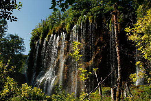The beautiful waterfalls of Plitvice Lakes