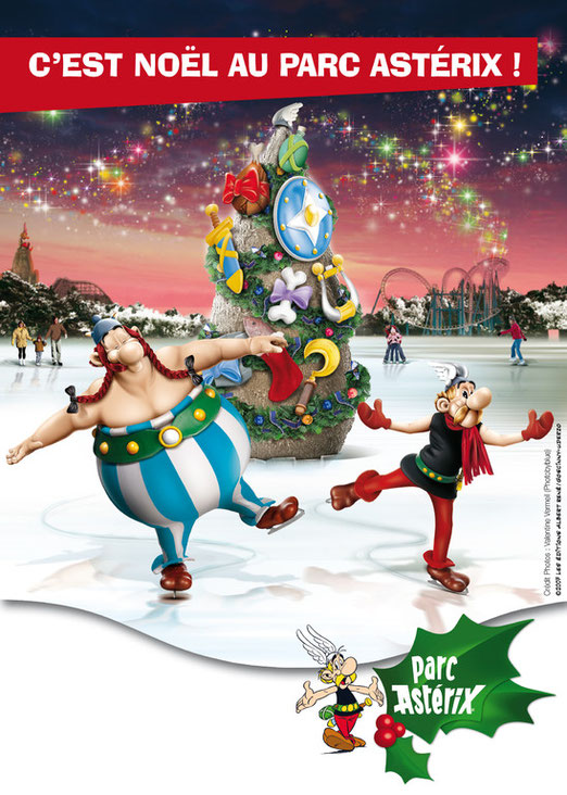 parc asterix noel glace gaulois