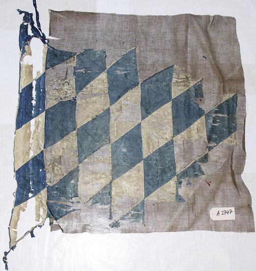 Fahne Bayern Bayerisches Armeemuseum 4. LIR Königl. bay. bai. 4. Linien Infanterie Regiment Linien-Infanterie-Regiment Linieninfanterieregiment Infanterieregiment 4. bayerisches baierisches bairisches bayrisches LIR Graf salern vacant