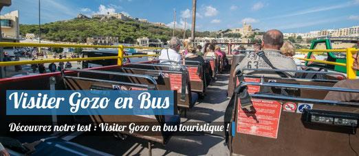 Visiter Gozo en Bus touristique ! Notre Avis !