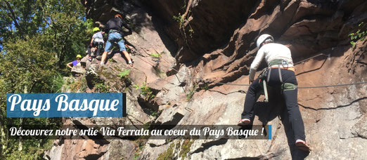 Faire de la via ferrata au coeur du Pays Basque !