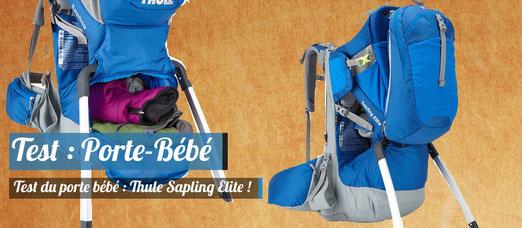 Test : On a testé le porte-bébé Thule Sapling Elite !