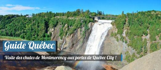Les chutes de Montmorency aux portes de la ville de Québec